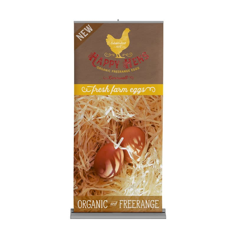 Happy Hens Roll-Up Banner