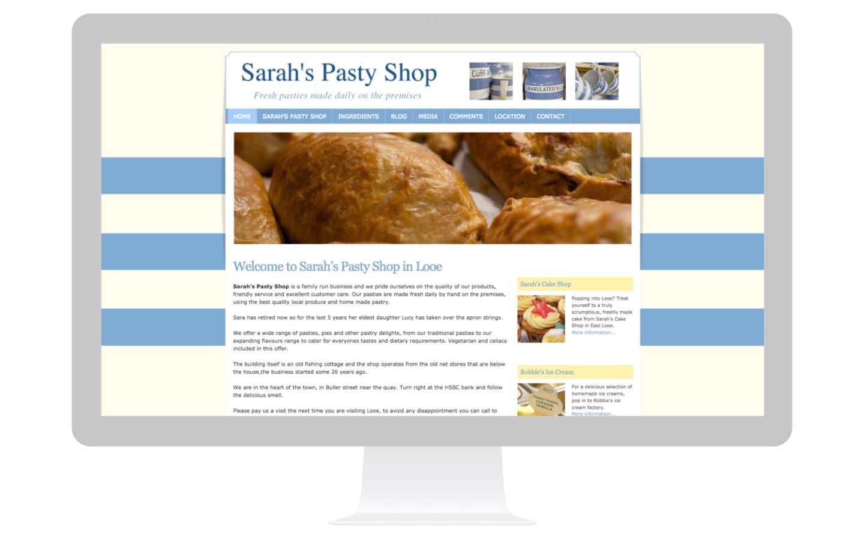 Cornish Pasty Shop Website Design