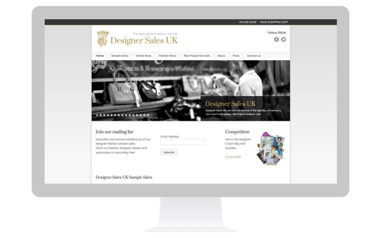 Designer Sample Sales Website Design