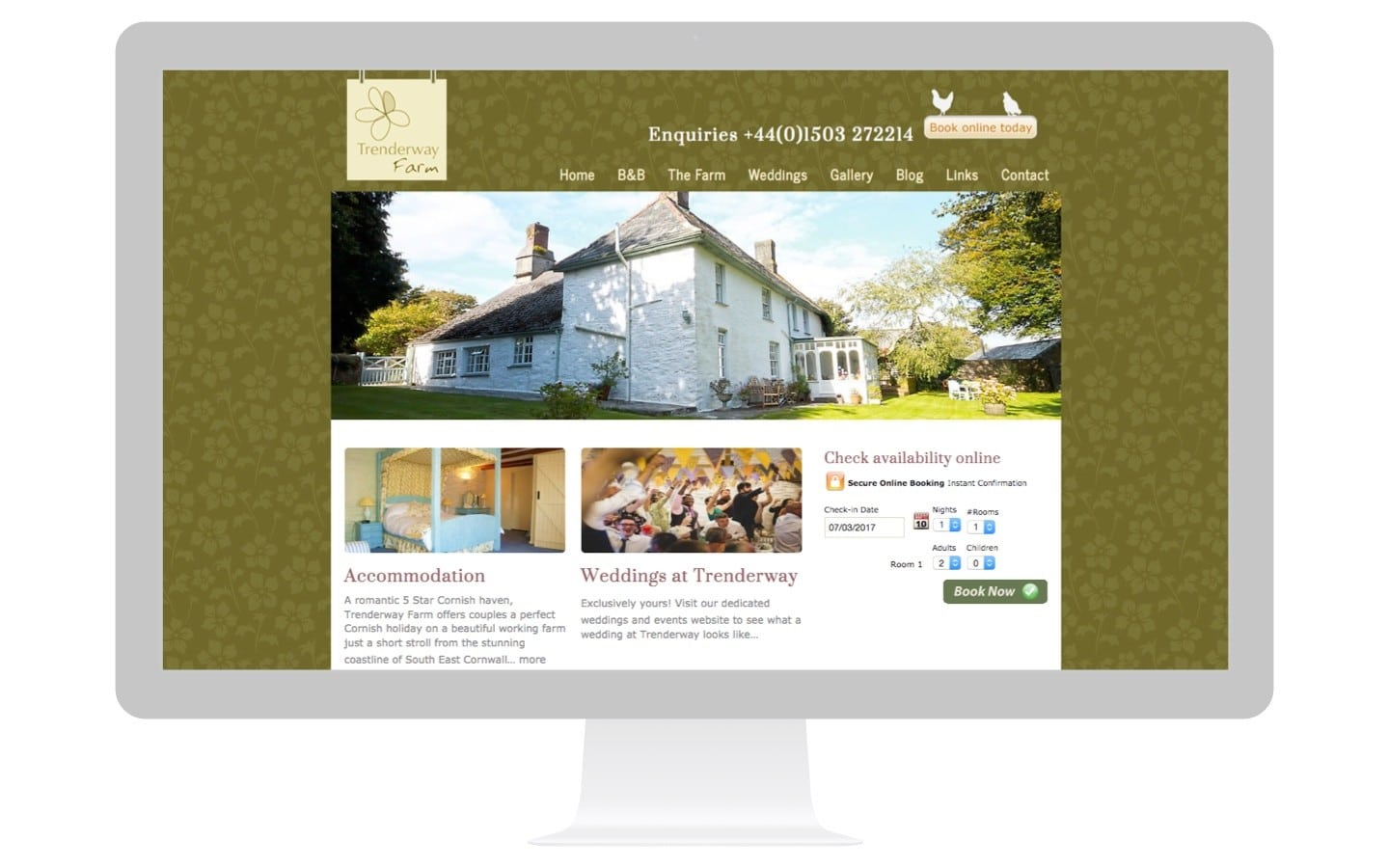 Farm Bed And Breakfast Website Design