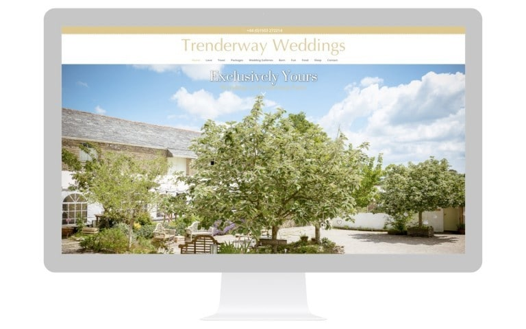 Farm Weddings Website Design