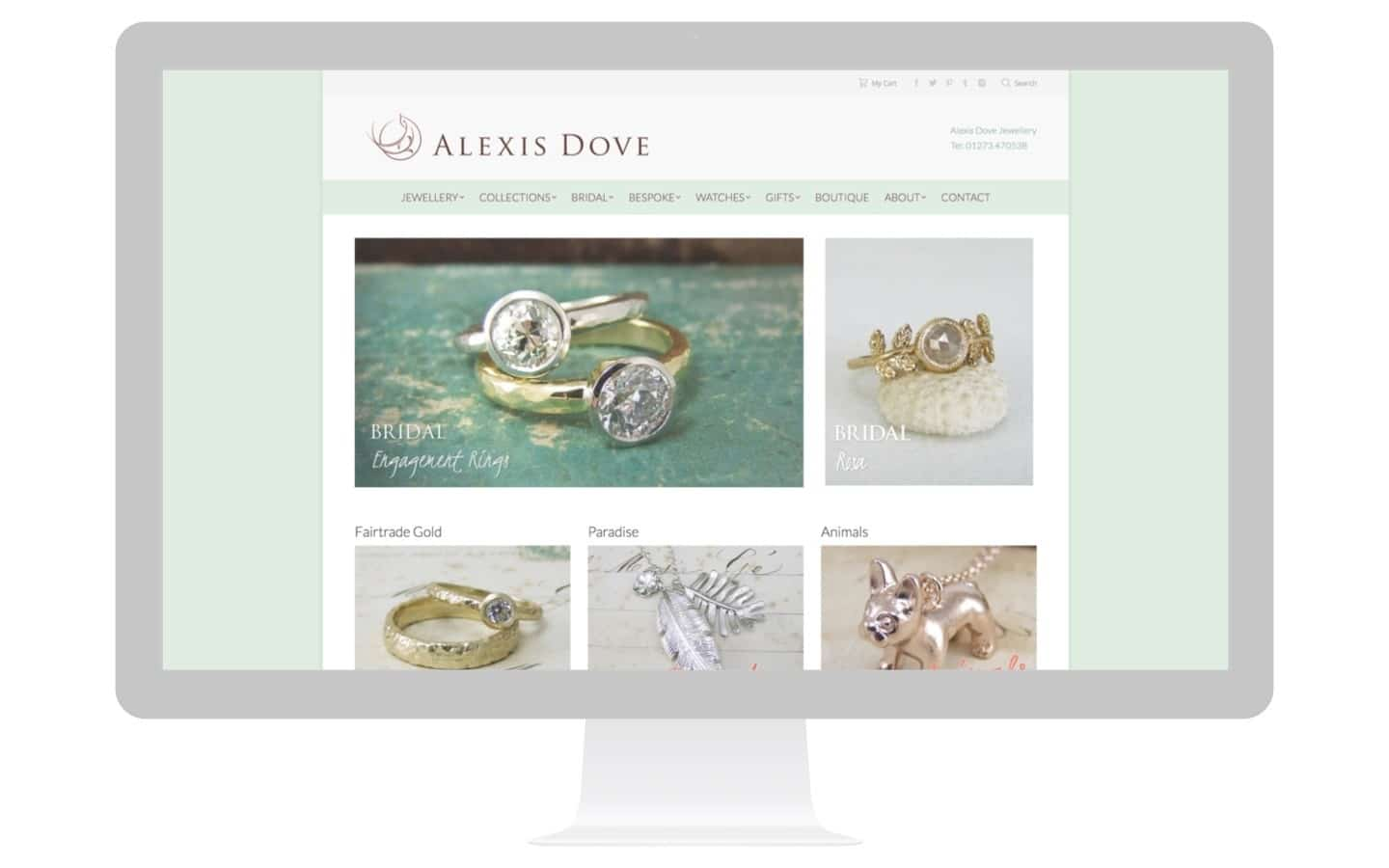 Jewellery Design Website Design