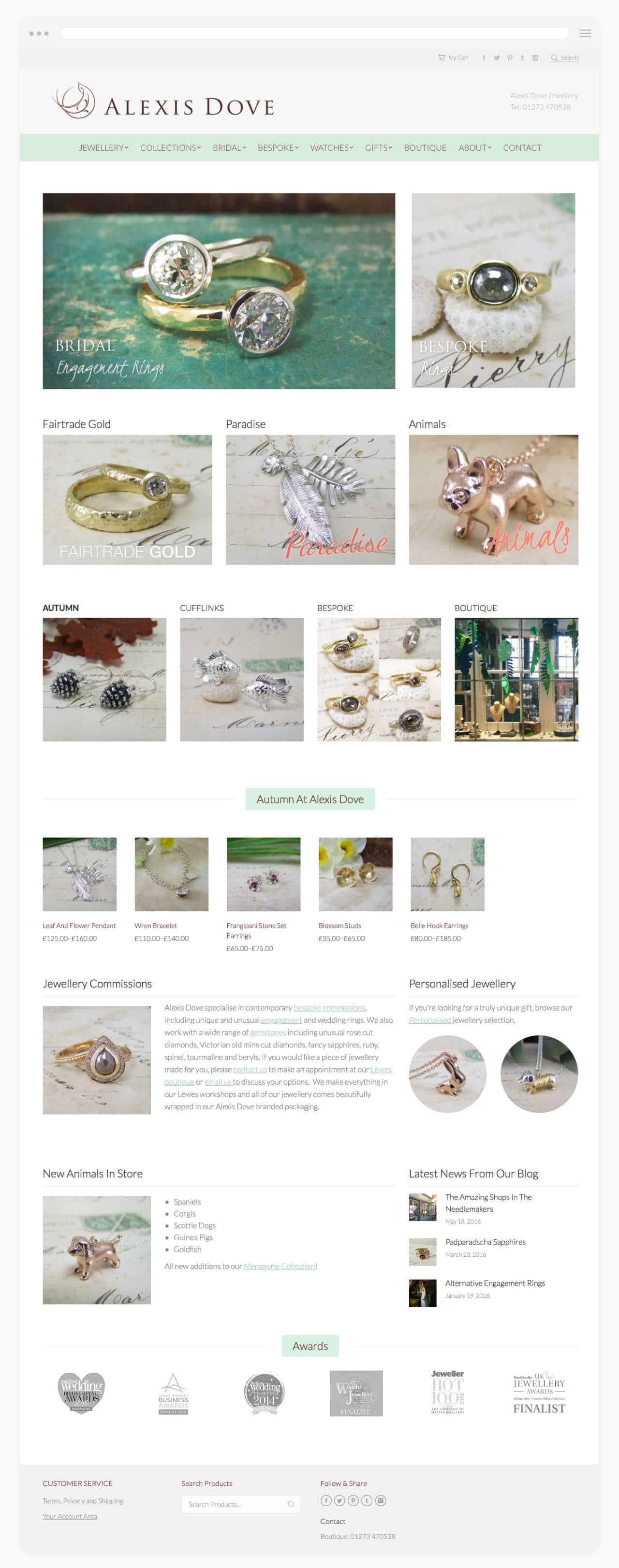 Jewellery Designer Website