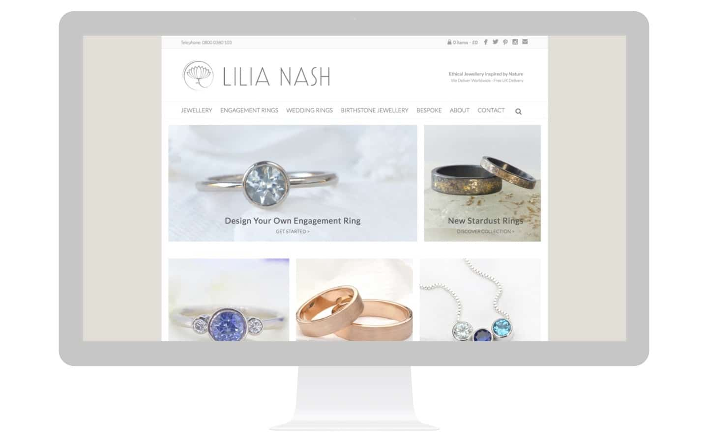 Lilia Nash Jewellery Design Website