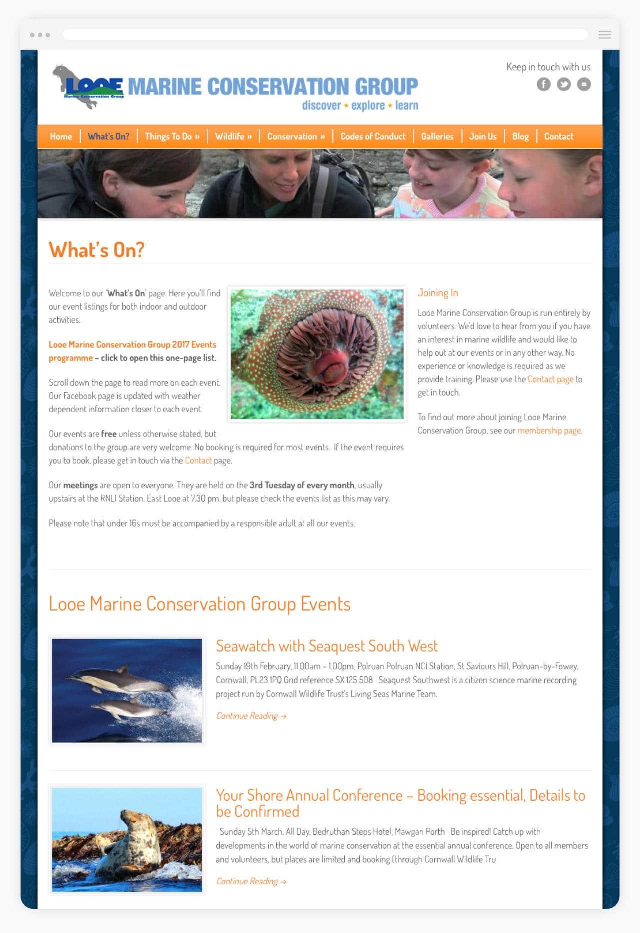 Marine Conservation Website