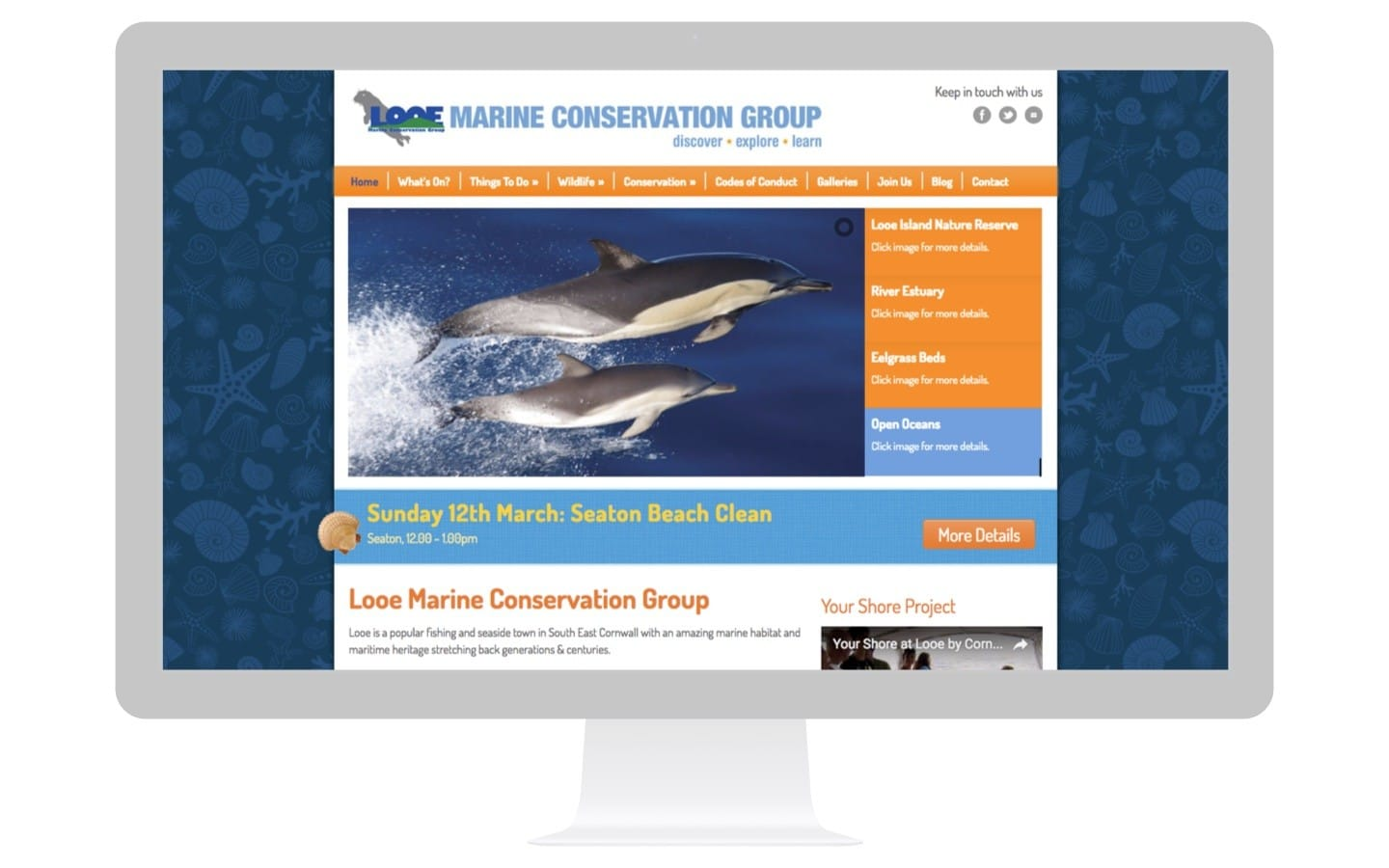Marine Conservation Website Design
