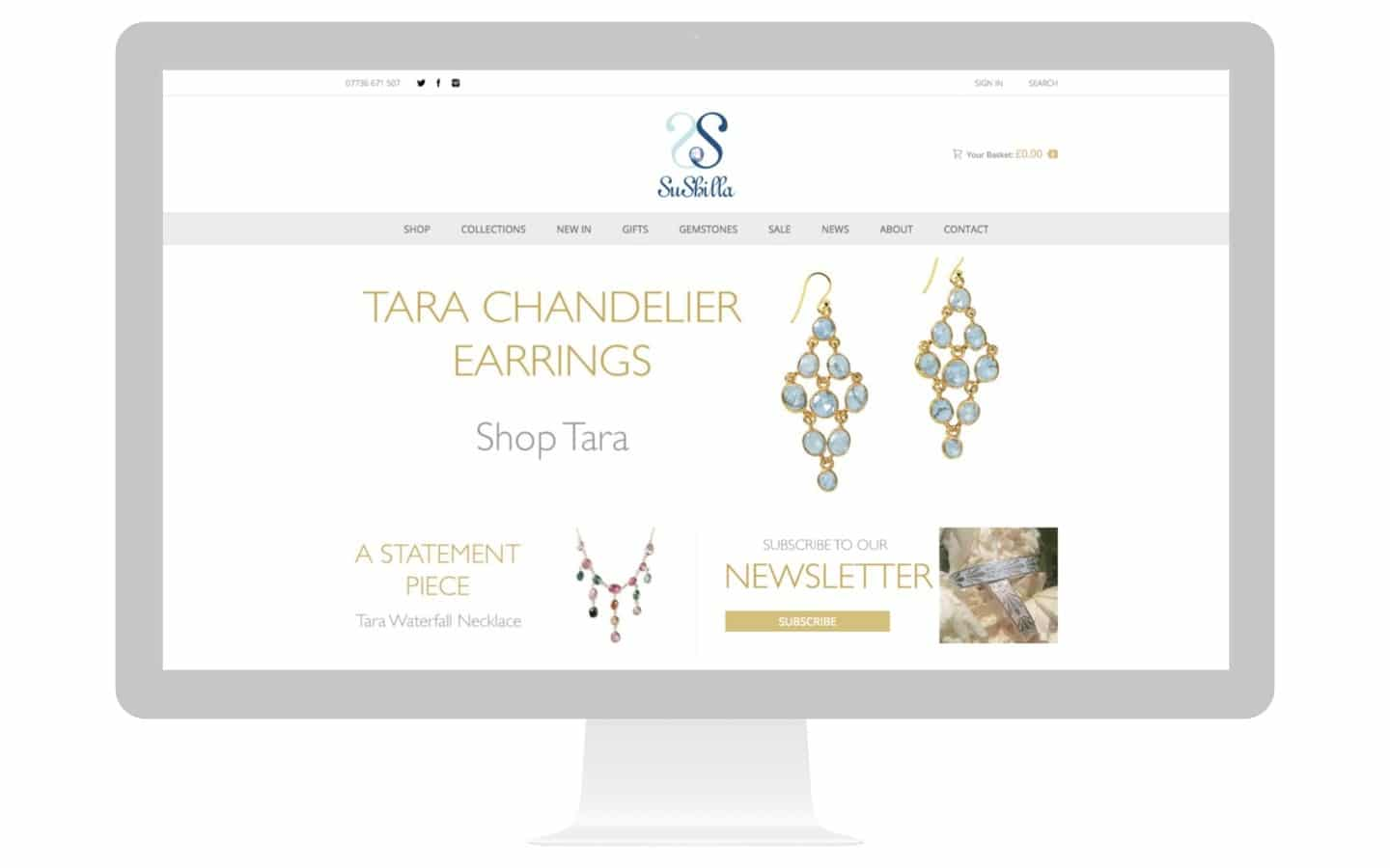 Jewellery Design Website Sushilla