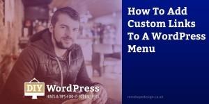 Add Custom Links WordPress Menu