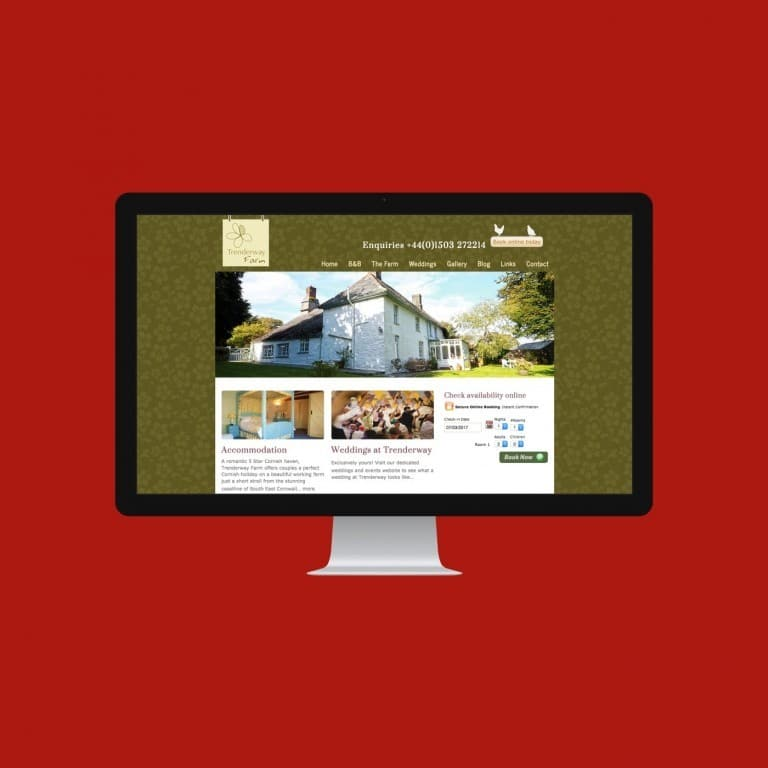 Farm B&B Website Trenderway Farm