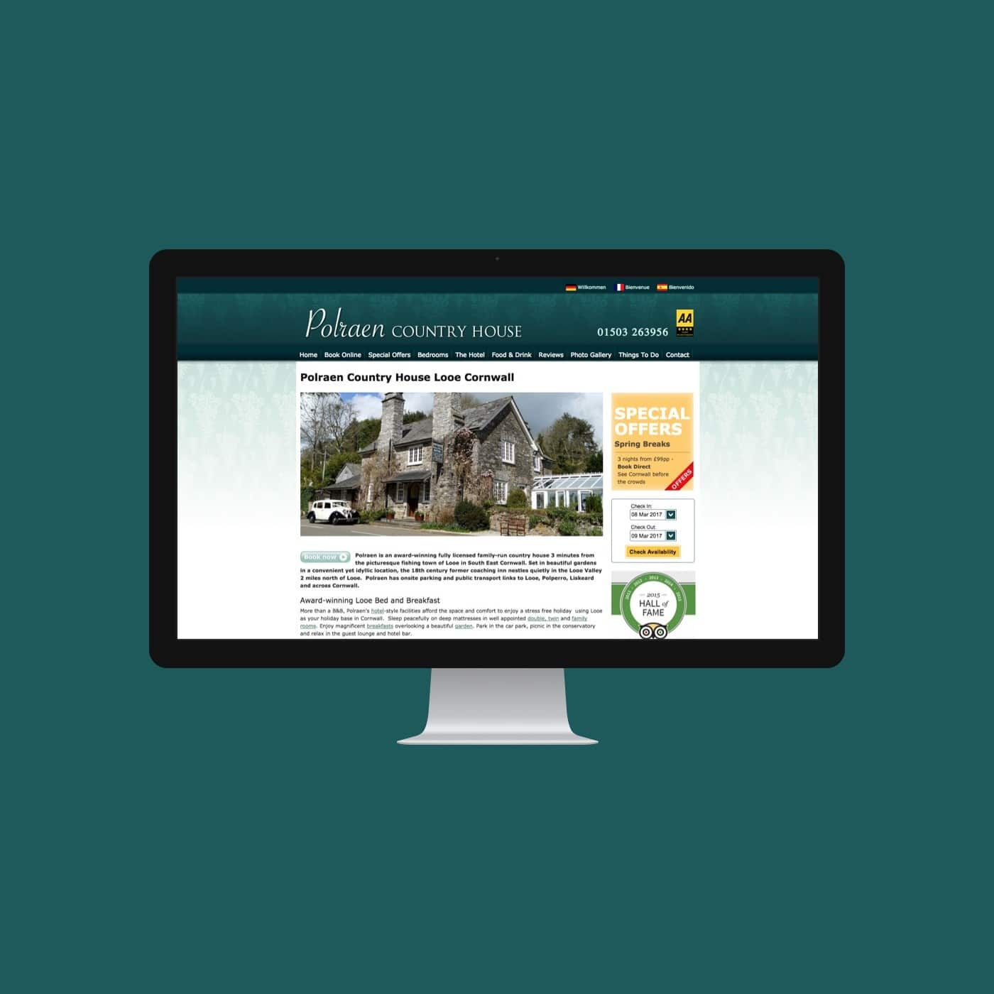 Hotel Website Polrean Country House