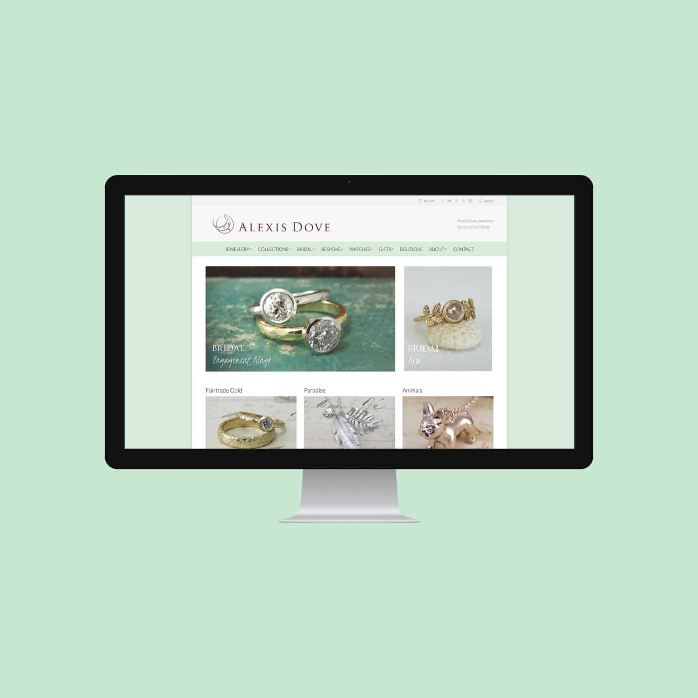 Jewellery Designer Website Alexis Dove