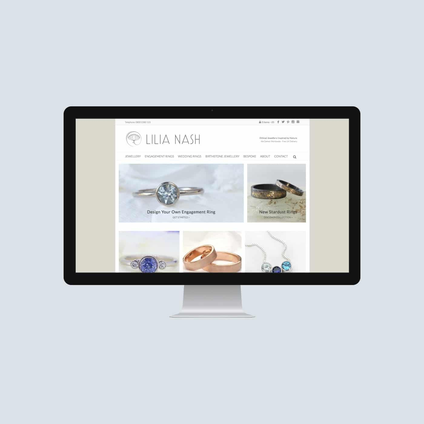 Jewellery Designer Website Lilia Nash