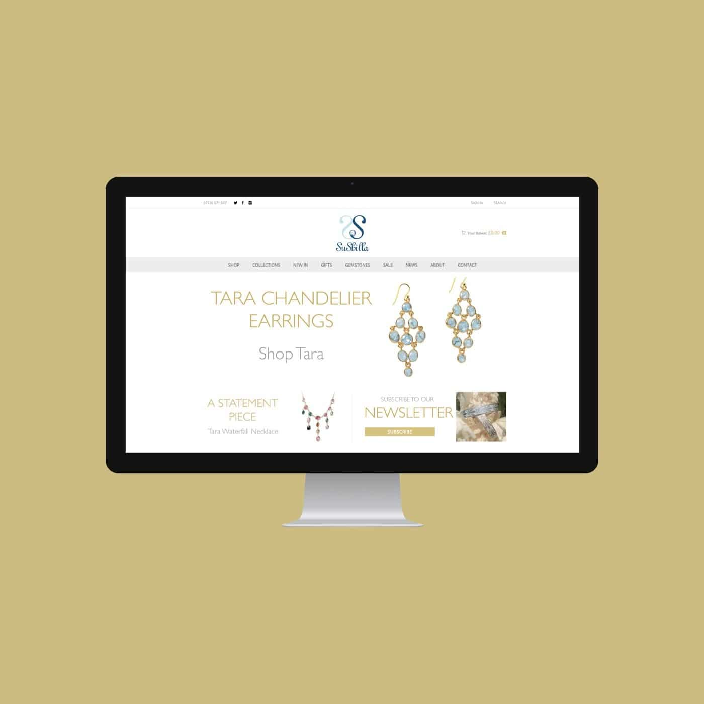 Jewellery Designer Website Sushilla