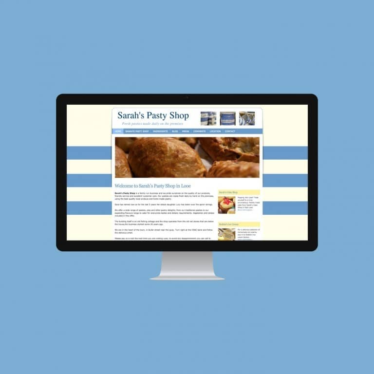Pasty Shop Website Sarah's Pasty Shop