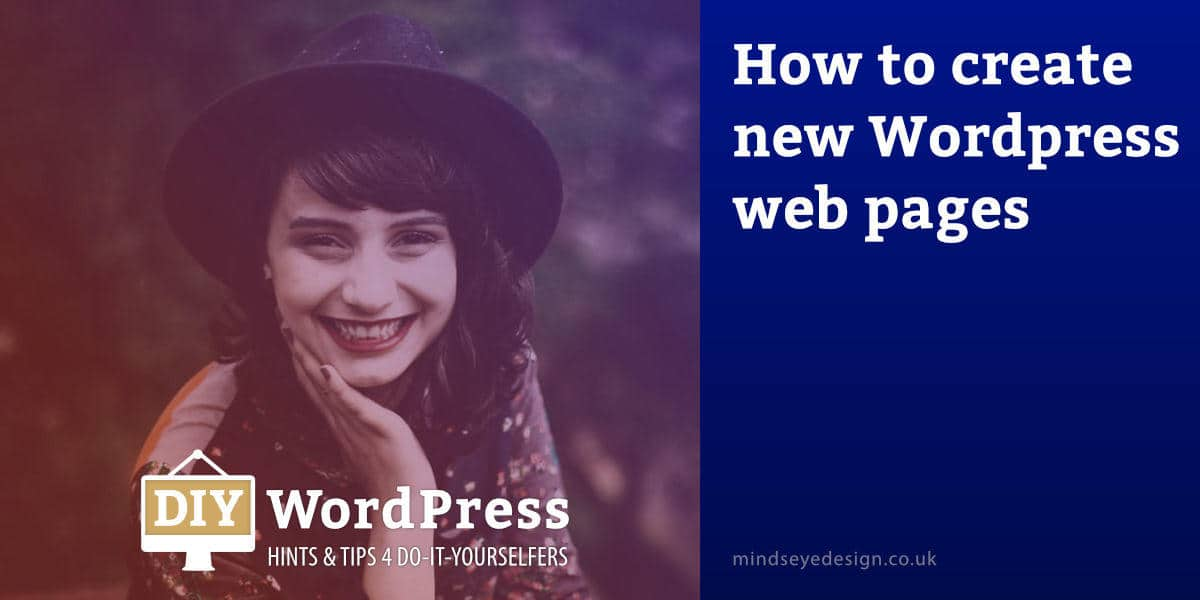 how to create web page in wordpress