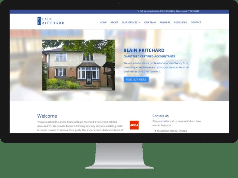 Website Design Accountants Blain Pritchard