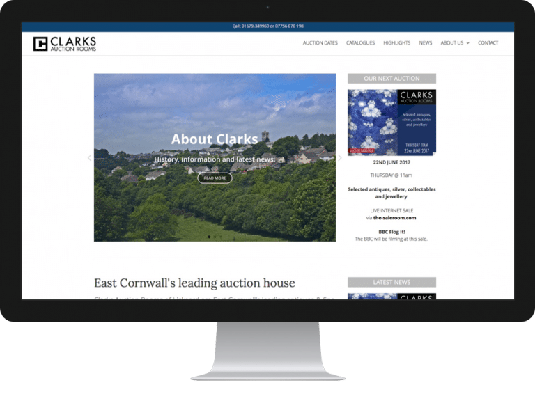 Website Design Clarks Auctions House