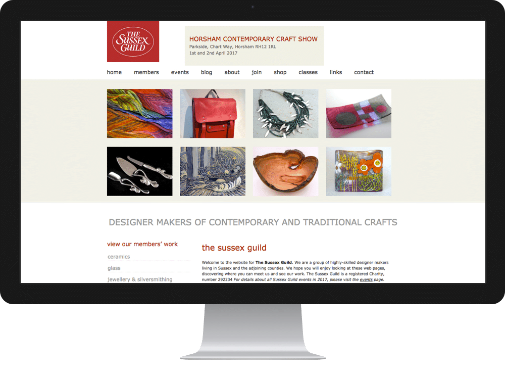 Website Design Craft Sussex Guild