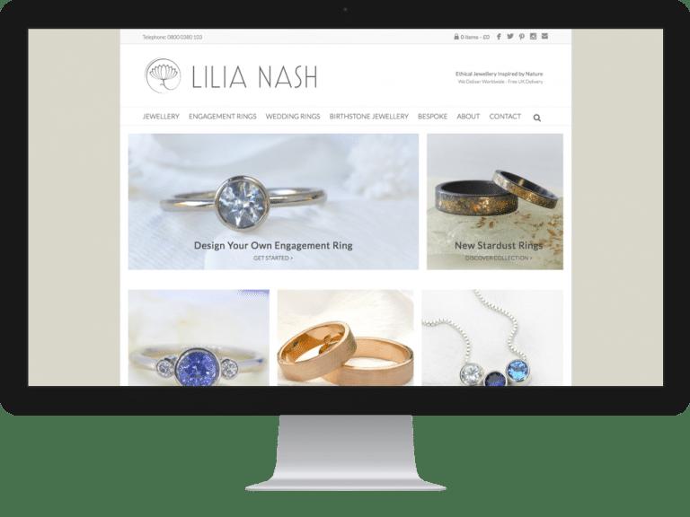 Website Design Jewellery Designer Lilia Nash