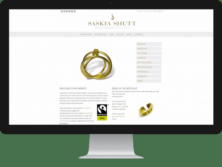 Website Design Jewellery Designer Saskia Shutt