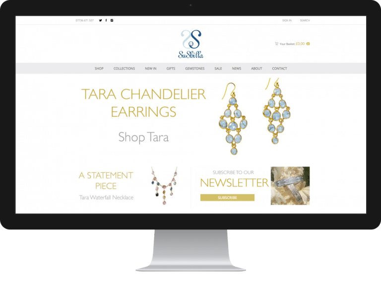 Website Design Jewellery Designer Sushilla