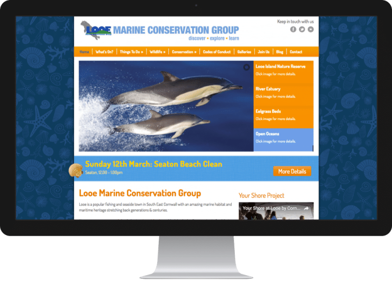 Website Design Looe Marine Conservation Group