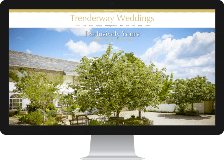 Website Design Trenderway Farm Weddings