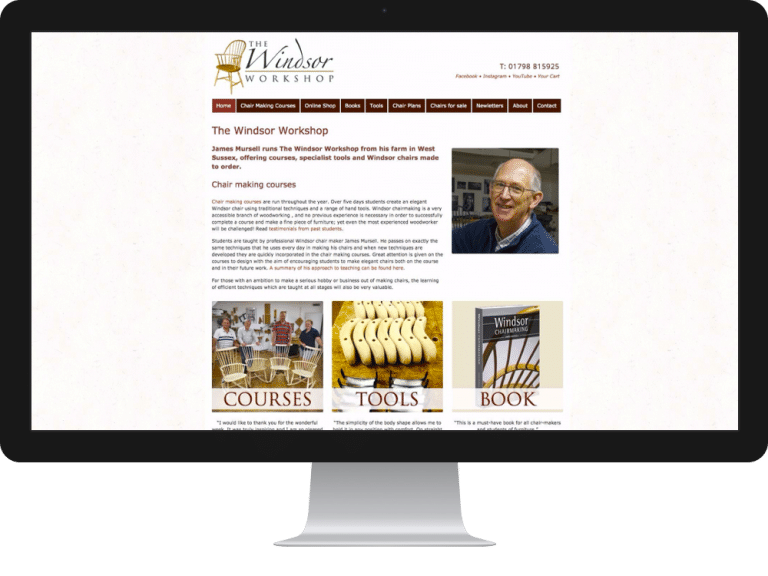 Website Design Windsor Chairs James Mursell