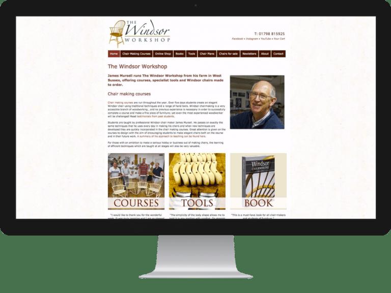 Website Design Windsor Chairs James Mursell
