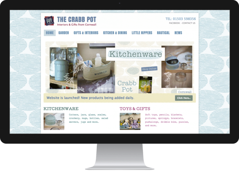 Website Design ecommerce websites crabb pot