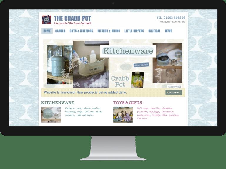 Website Design ecommerce websites crabb pot