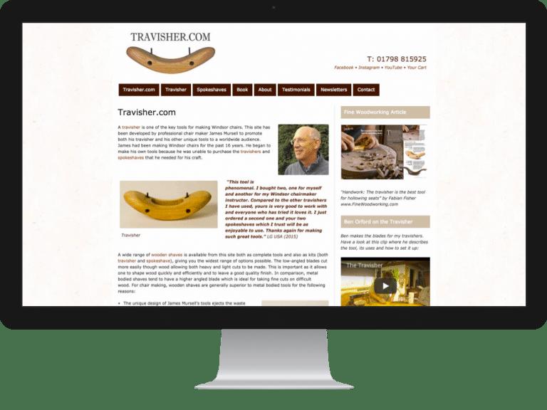 Website Design travisher maker James Mursell