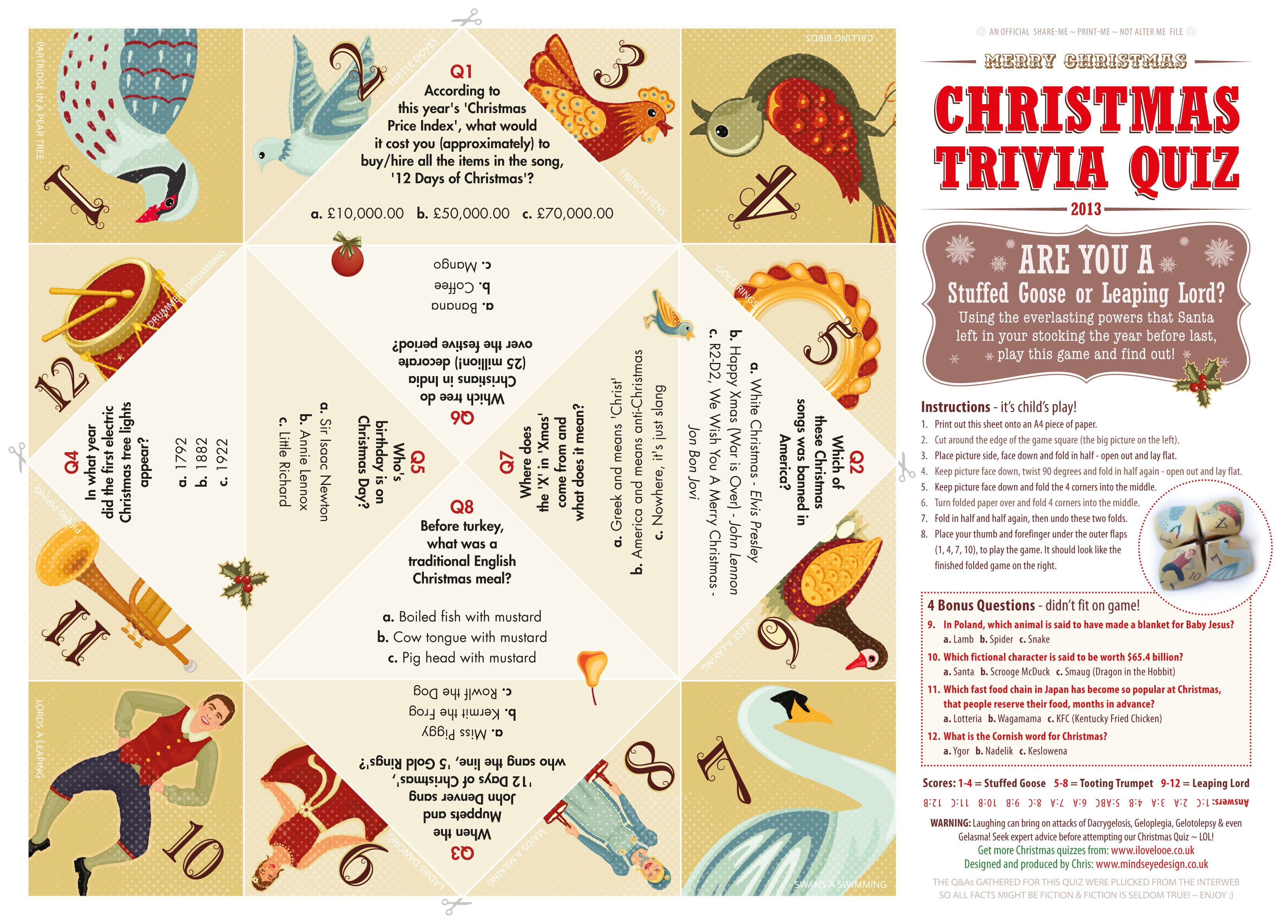 3 Family Friendly Christmas Quiz Downloads Minds Eye Design