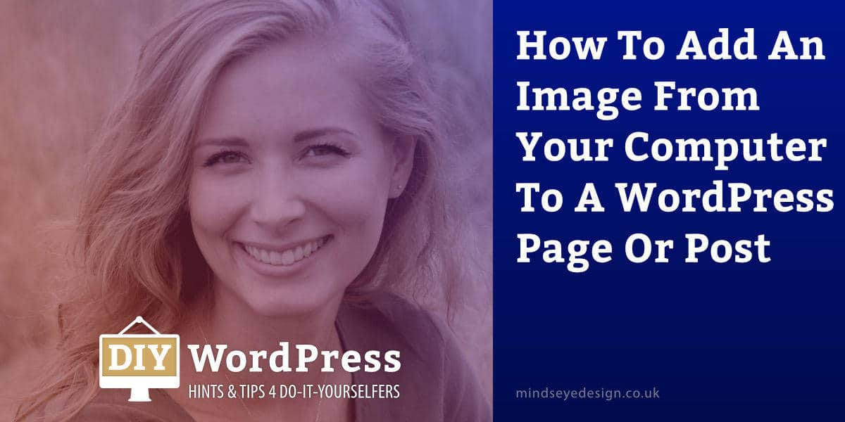 How to add an image from a computer to WordPress