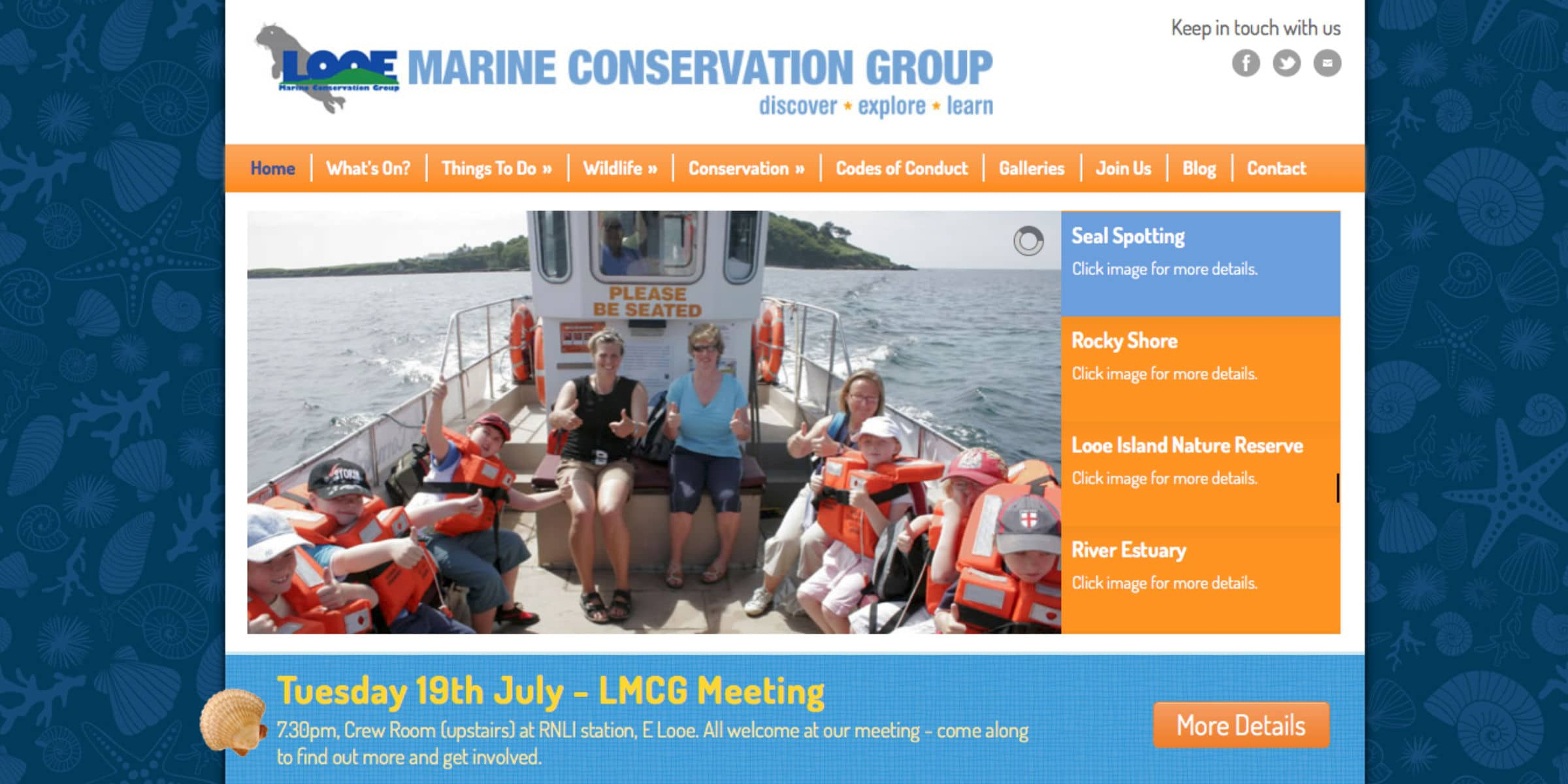 Looe Marine Conservation Group Website